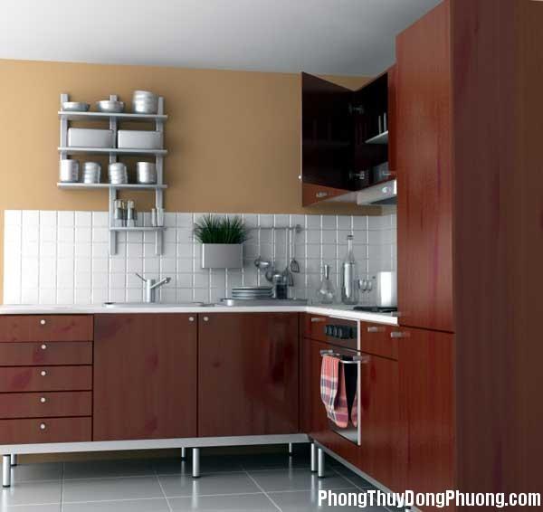 bep dep phong thuy2 Cách sắp xếp các yếu tố đối lập trong phong thủy phòng bếp