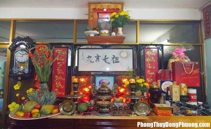 bai tri ban tho gia tien dung chuan theo phong thuy 377211 Nguyên tắc bố trí bàn thờ gia tiên theo phong thủy