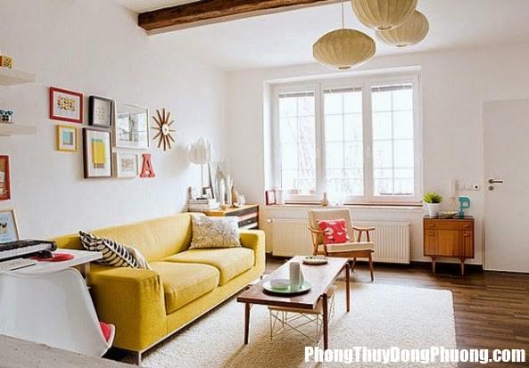 yellow sofa Nguyên tắc bố trí cửa sổ cho từng phòng hợp phong thủy
