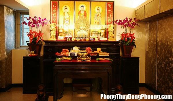 30.5ban tho to tien ngay tet kieng ky dung cach de ruoc tai loc vao nha 2 Cách bố trí bàn thờ Phật để rước tài lộc vào nhà