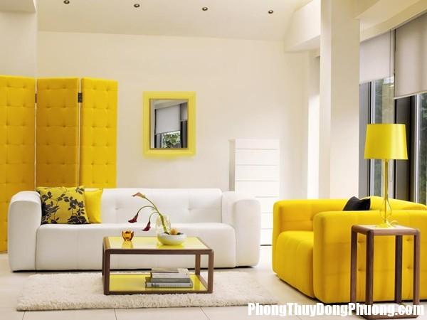 E68 cachtrangtri Sử dụng màu vàng hợp lý trong trang trí nhà ở