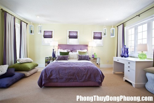 F1B mausacphongngu Đoán tính cách thông qua màu sắc phòng ngủ