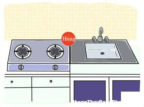 hoa giai cam ki phong thuy cho nha dat bon rua canh bep phong thuy nha bep 1 Cách hóa giải xung khắc cho bồn rửa đặt cạnh bếp