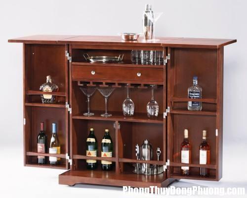 r1 Cách bố trí tủ rượu để hài hòa âm dương trong nhà ở