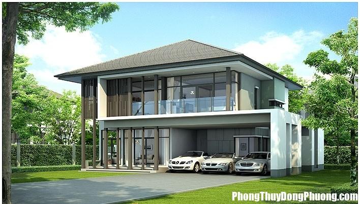 thiet ke biet thu san vuon 2tang ngap transac xanh10 Cần chú ý hình thể nhà ở trước khi xây hoặc mua nhà