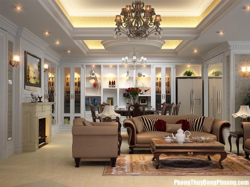 Những mẫu thiết kế nội thất phòng khách đẹp1 Chiêu tài cho nhà ở phải đúng cách nếu không sẽ gây phản tác dụng