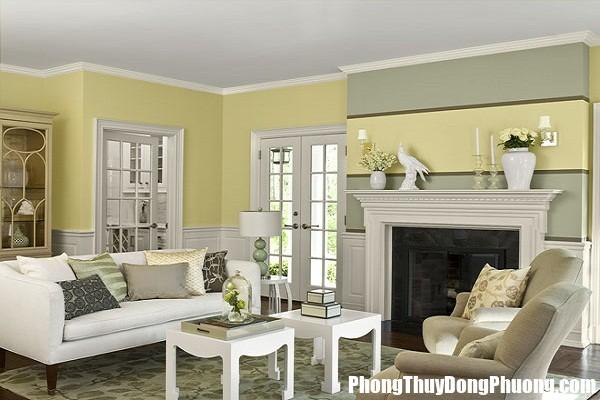 living room color palettes Nguyên tắc phong thủy rước tài lộc, bình an cho phòng khách