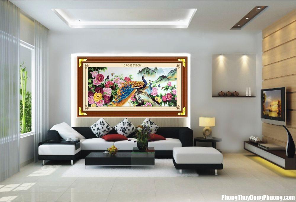 meo treo tranh phong thuy 1 Cách treo tranh thêu chữ thập đem lại thịnh vượng cho ngôi nhà