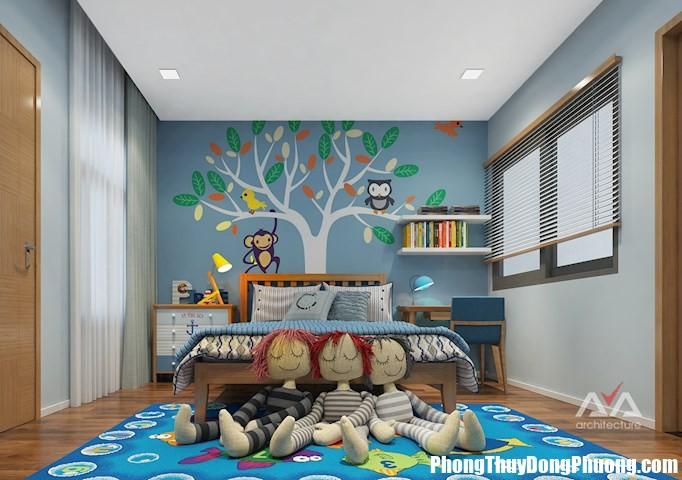 phong ngu con 02 Cách bố trí phòng cho bé giúp thể chất trí tuệ phát triển hài hòa