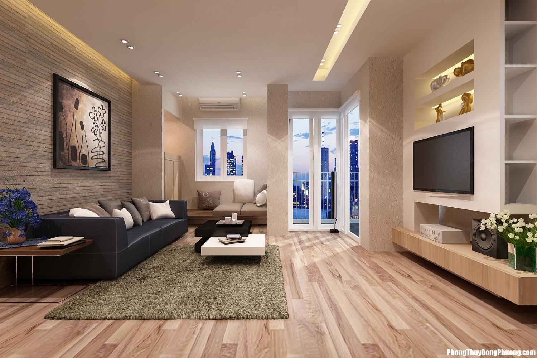 phong thuy phong khach db Cách chọn màu sắc và chất liệu sàn phòng khách để nhà ở thêm vượng vận