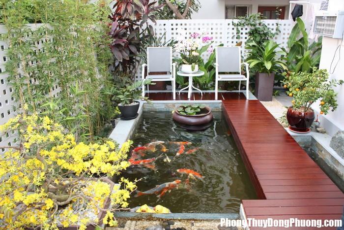 thiet ke san vuon 3 Bố trí nước lưu chuyển vận khí tốt cho không gian sân vườn