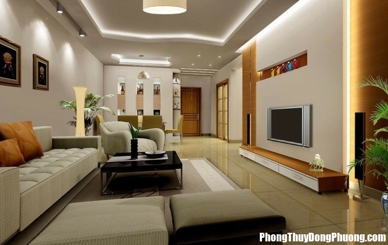 httpdesignmag.frwp contentuploads201507carrelage beige salon design Bí quyết bố trí phòng khách cho gia đạo thêm ấm êm, mạnh khỏe